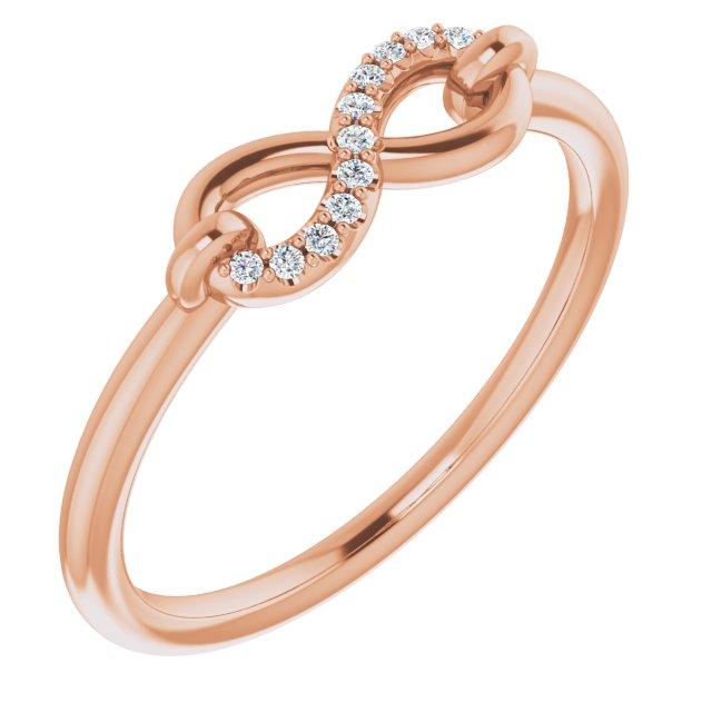 14K Rose .04 CTW Diamond Infinity-Inspired Ring