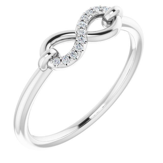 14K White .04 CTW Diamond Infinity-Inspired Ring