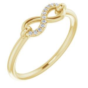 14K Yellow .04 CTW Diamond Infinity-Inspired Ring