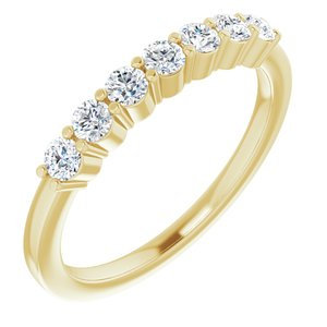 14K Yellow 3/8 CTW Diamond Anniversary Band