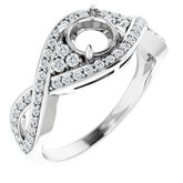 Accented Bypass Twist Engagement Ring or Band