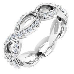 Vyrezávaný zásnubný prsteň základ - Infinity štýl alebo Eternity obrúčka
