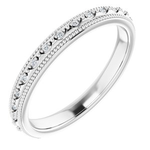 14K White .05 CTW Diamond Matching Band