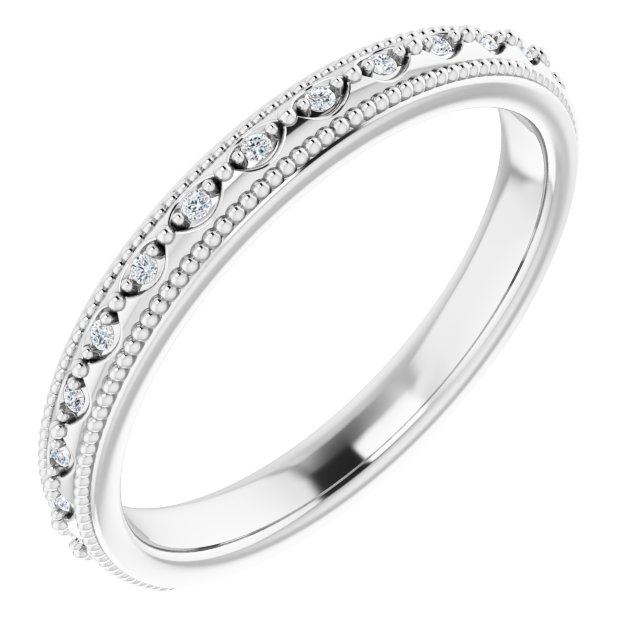 14K White .05 CTW Diamond Matching Band