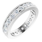 Channel-Set Milgrain Edge Eternity Band