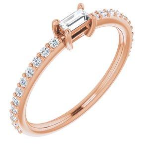 14K Rose 1/3 CTW Diamond Ring