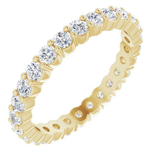 14K Yellow 7/8 CTW Diamond Eternity Band Size 7