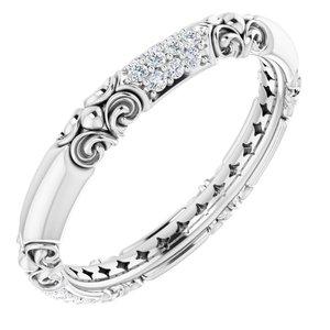 14K White 1/5 CTW Diamond Sculptural-Inspired Ring