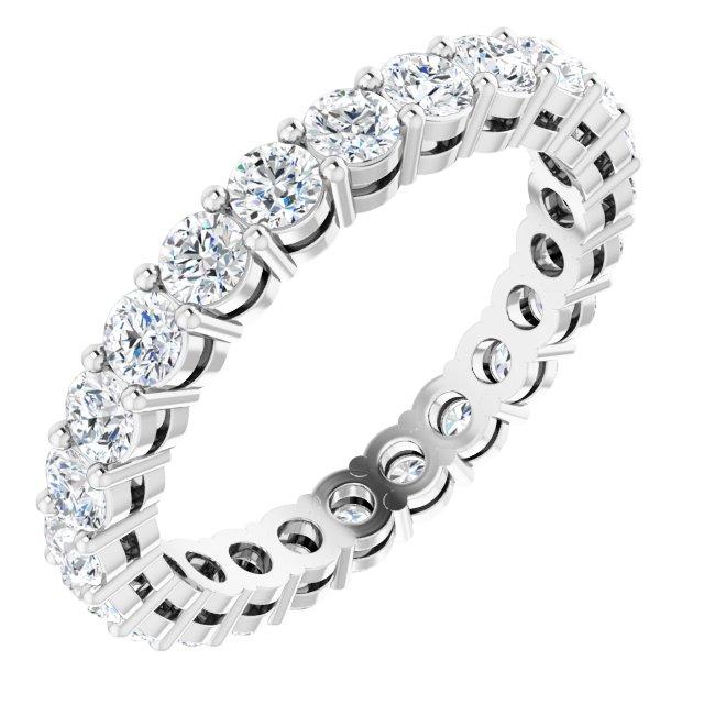 14K White 1 3/4 CTW Natural Diamond Eternity Band Size 6