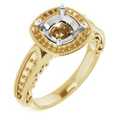 Vintage-Inspired Halo-Style Engagement Ring