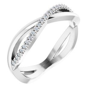 Platinum 1/10 CTW Diamond Infinity-Inspired Anniversary Band