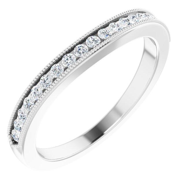 14K White 1/4 CTW Diamond Band