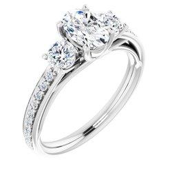 Zasnubný prsteň s 3 kameňmi