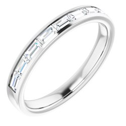 Diamond Baguette Anniversary Band or Mounting