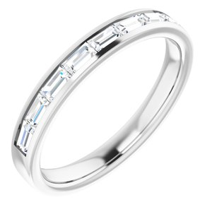 14K White 1/2 CTW Diamond Channel-Set Anniversary Band