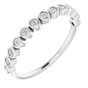 Platinum 1/5 CTW Diamond Anniversary Band