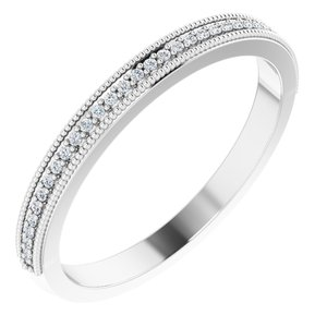 .08 CTW Diamond Milgrain Anniversary Band