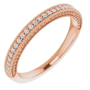 14K Rose 1/10 CTW Diamond Anniversary Band