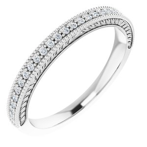Platinum 1/10 CTW Diamond Anniversary Band
