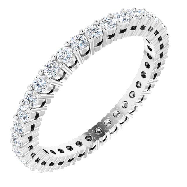 14K White 3/4 CTW Natural Diamond Eternity Band Size 7