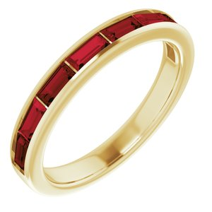 14K Yellow Mozambique Garnet Ring