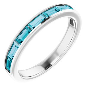14K White London Blue Topaz Ring