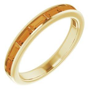 14K Yellow Citrine Ring