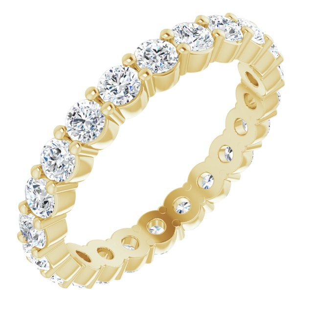 14K Yellow 1 1/6 CTW Diamond Eternity Band Size 5