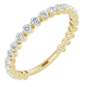 14K Yellow 3/4 CTW Diamond Anniversary Band