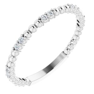 Platinum 1/6 CTW Diamond Anniversary Band