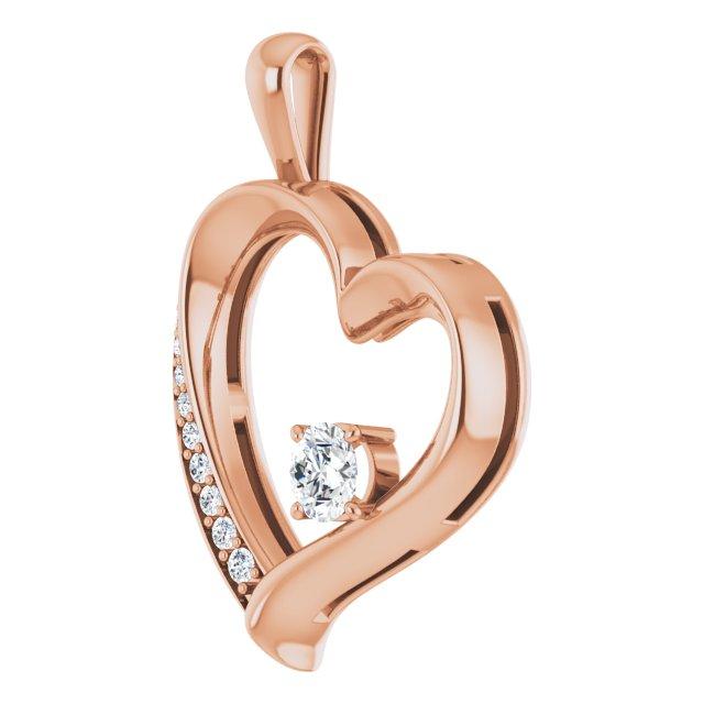 14K Rose 1/3 CTW Diamond Pendant