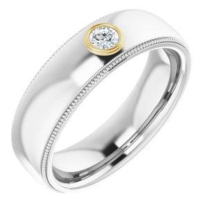 14K White & Yellow 1/6 CTW Diamond Ring