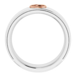 Bezel-Set Milgrain Ring