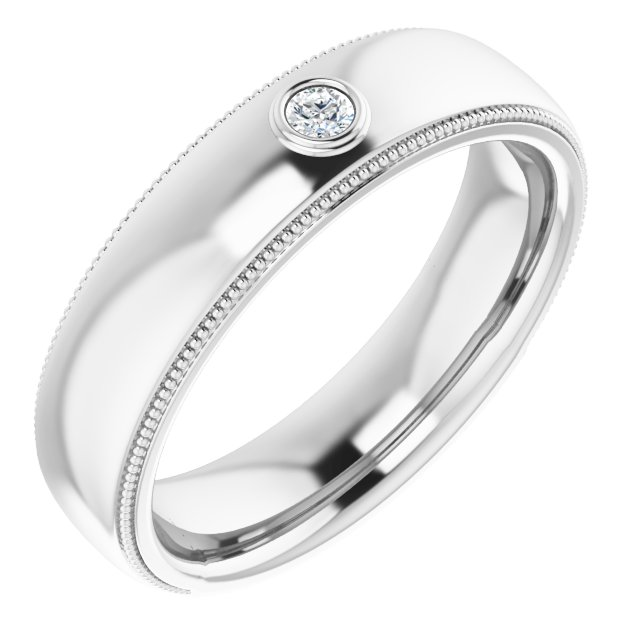 14K White .06 CTW Diamond Ring