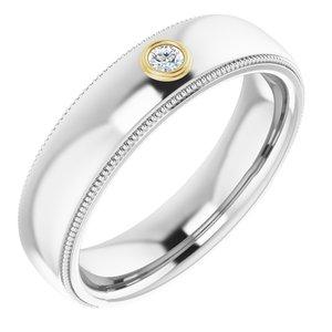 14K White & Yellow .06 CTW Diamond Ring