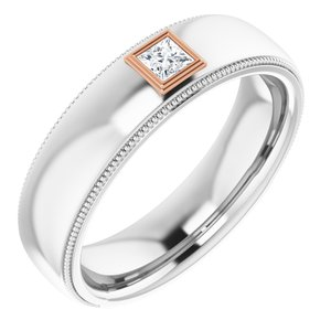 14K White & Rose 1/6 CTW Diamond Ring