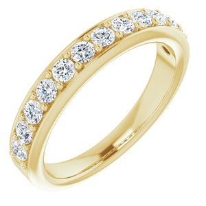 14K Yellow 5/8 CTW Diamond Anniversary Band