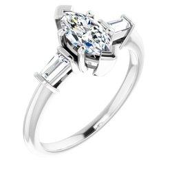 Zásnubný prsteň s postrannými kameňmi
