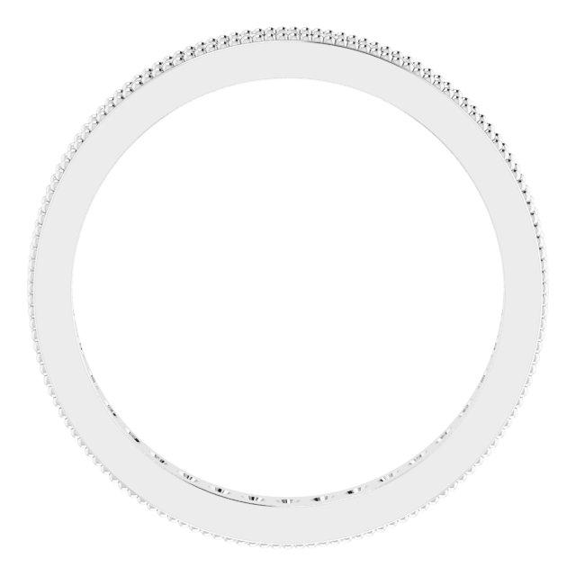 14K White 1/2 CTW Diamond Eternity Milgrain Band Size 7