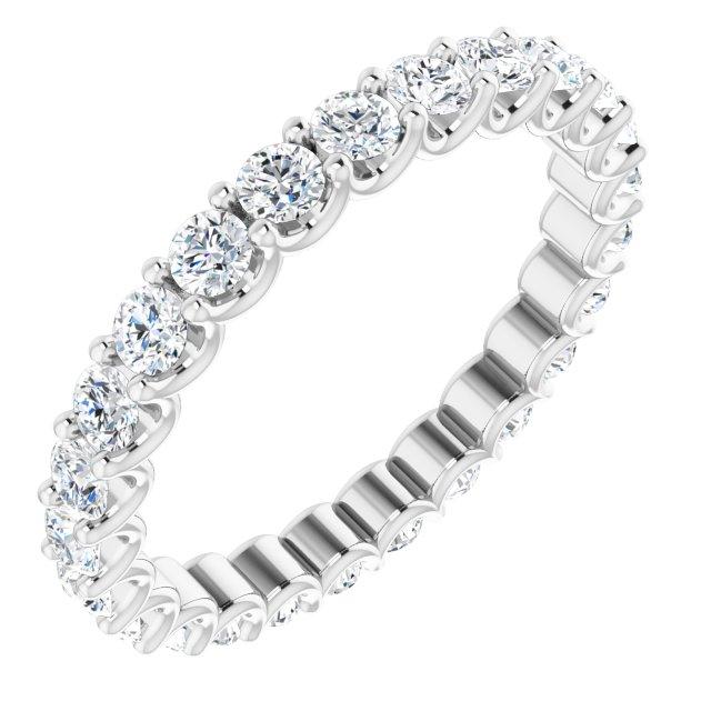 Platinum 9/10 CTW Diamond Eternity Band