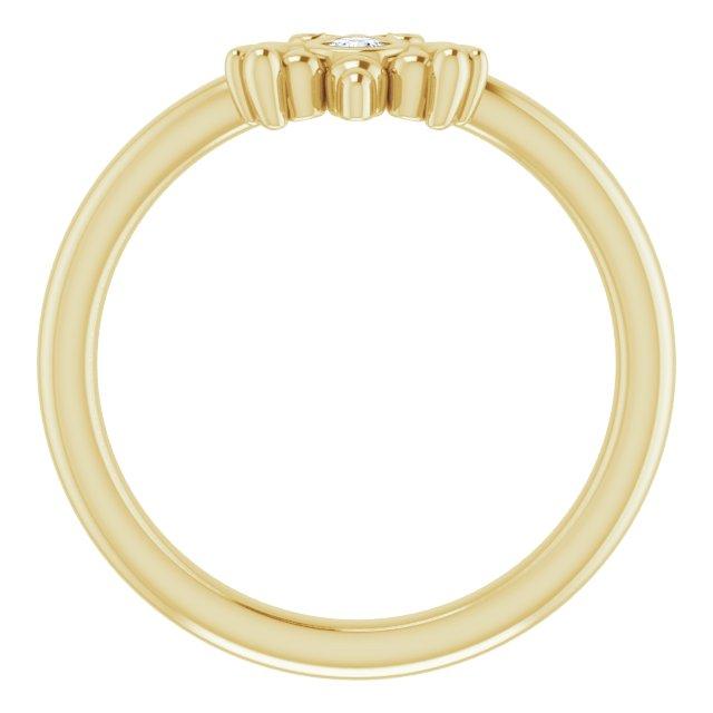14K Yellow .03 CTW Diamond Youth Bee Ring