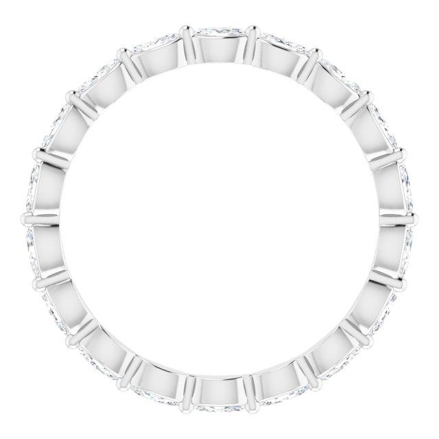 14K White 3/4 CTW Diamond Eternity Band Size 6.5
