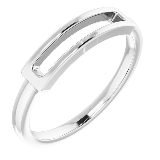 Sterling Silver Open Bar Ring