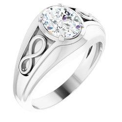 Infinity-Style Men's Ring