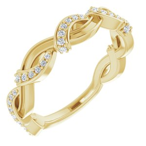 14K Yellow 1/6 CTW Diamond Anniversary Band