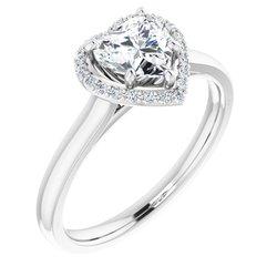 Halo-Styled Engagement Ring