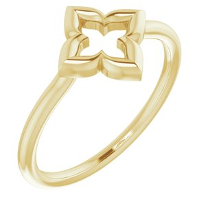 14K Yellow Clover Ring