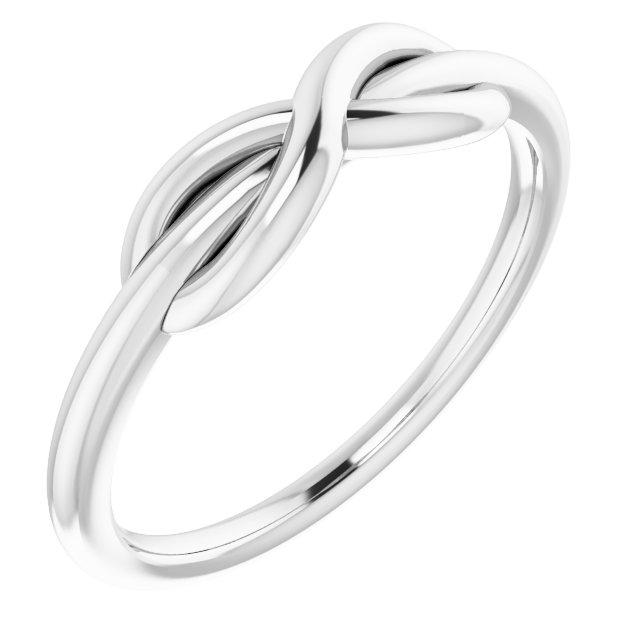 14K White Infinity-Style Ring