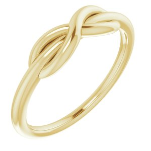 14K Yellow Infinity-Style Ring