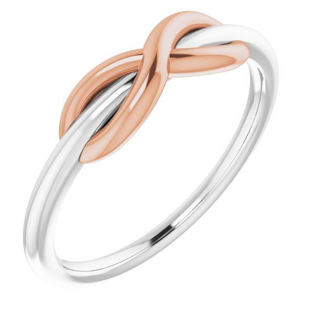 14K White & Rose Infinity-Style Ring